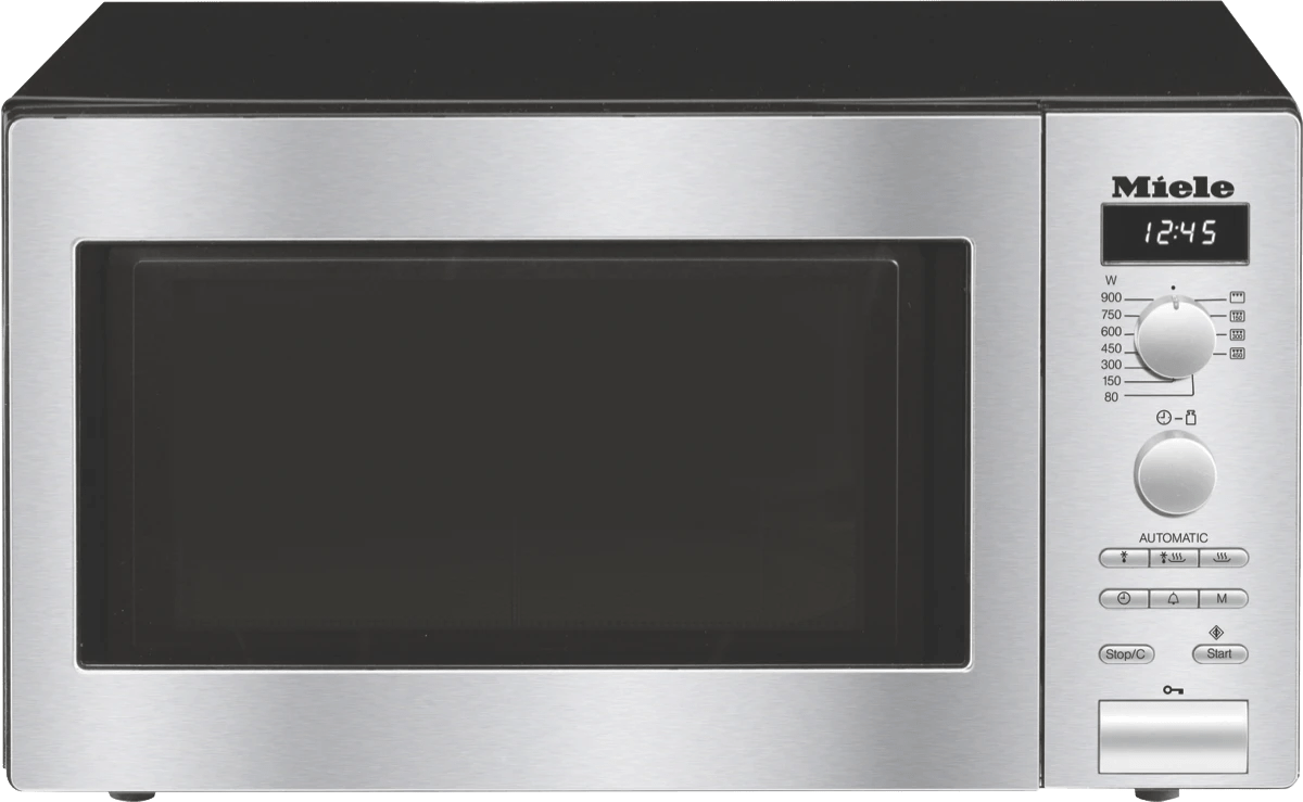 miele m6012 clst 26l 900w cleansteel microwave oven at the good guys