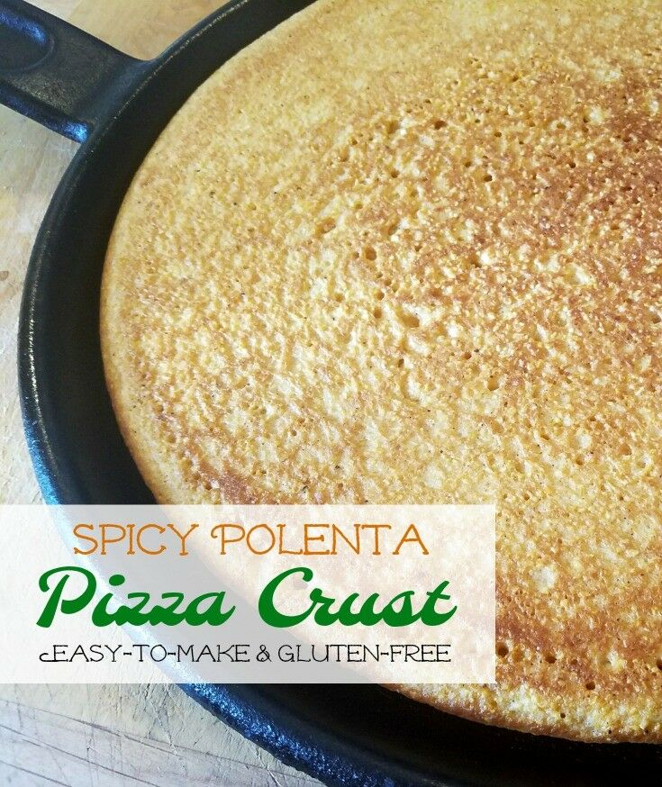 "Not just another ""gluten-free option,"" this Spicy Polenta Pizza Crust is full of flavor, easy-to-make, and holds up to a load of pizza toppings! 