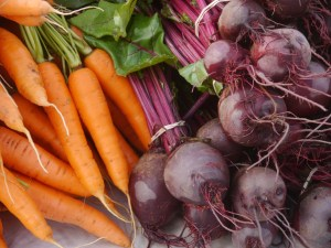 organic carrots and beets