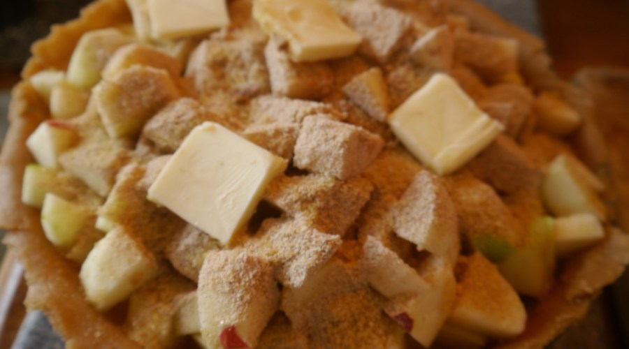making Nana's apple pie