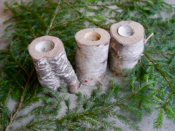 meaningful & affordable holiday gifts: birch candle holders