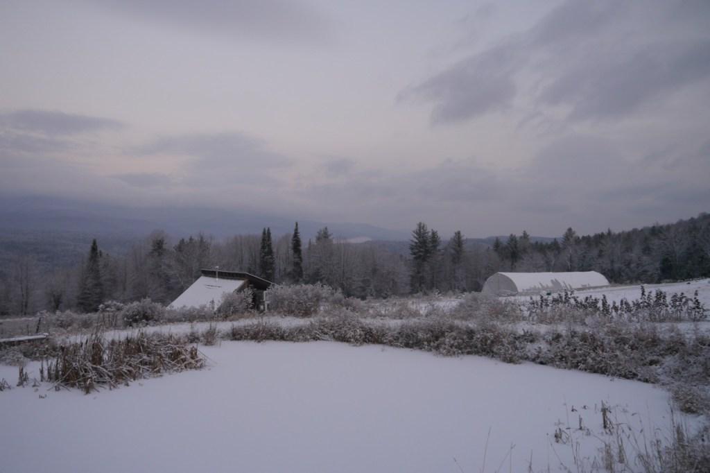 new snow on the farm