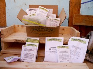 organic seed packets from High Mowing Organic Seeds