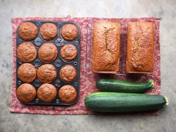 Gluten-free, egg-free, dairy-free zucchini bread and muffins