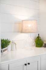 photo of shiplap wall and built-ins
