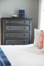 photo of deep grey dresser