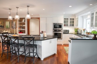 photo of kitchen island and cabinets