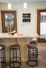 photo of kitchen island and barstools