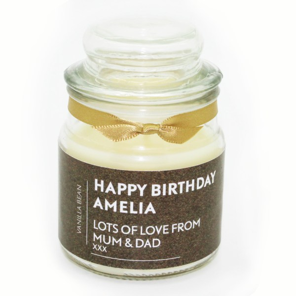 Design personalised candle