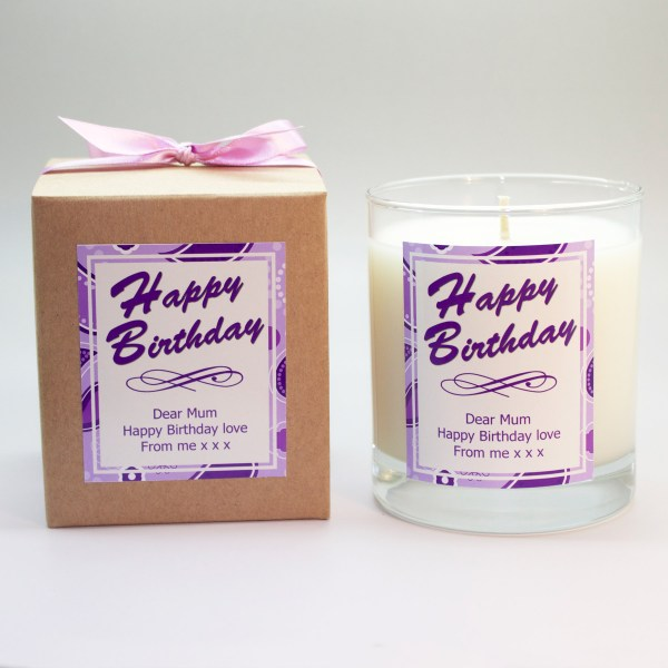 personalised candle