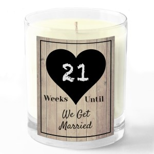 Weeks We get married candle white background no number