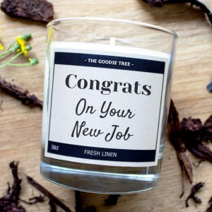 Congrats on your new job candle