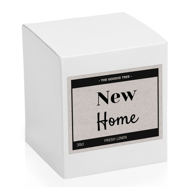 New home candle white box