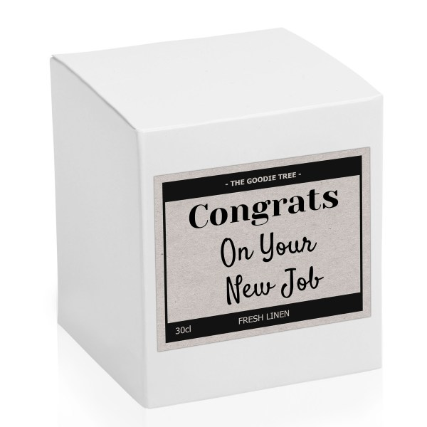 Tin lid bottom Congrats on your new job candle box