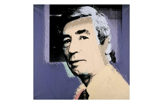 Portrait d'Hergé signé Andy Warhol (1977).