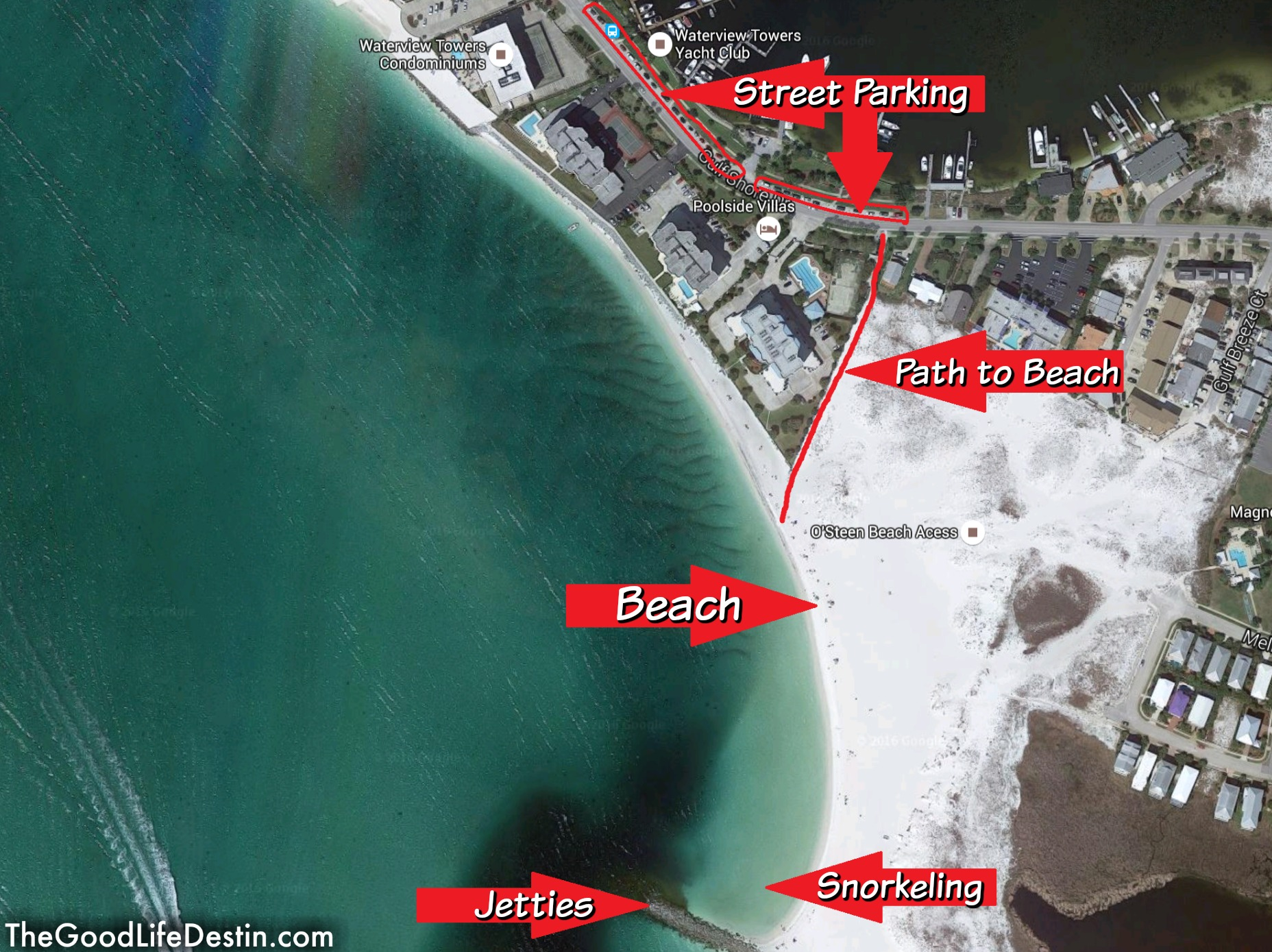 Find Your Perfect Beach In Destin Florida The Good Life Destin - Florida map destin beach
