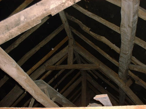 The beams in the French farm house, The Good Life France