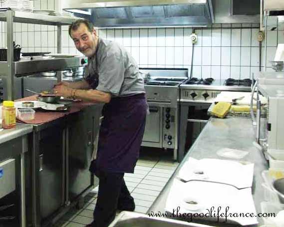 Philippe Aubron in his kitchen