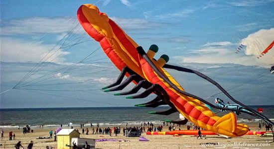 kite festival berck sur mer giant lobster kite