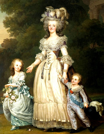 marie-antoinette-and-children-before-the-arrest