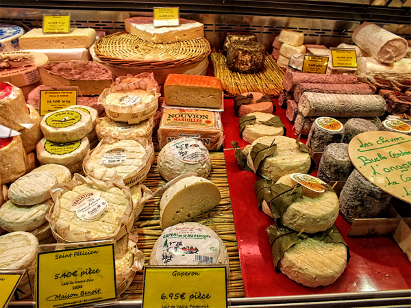 dijon market cheese stall