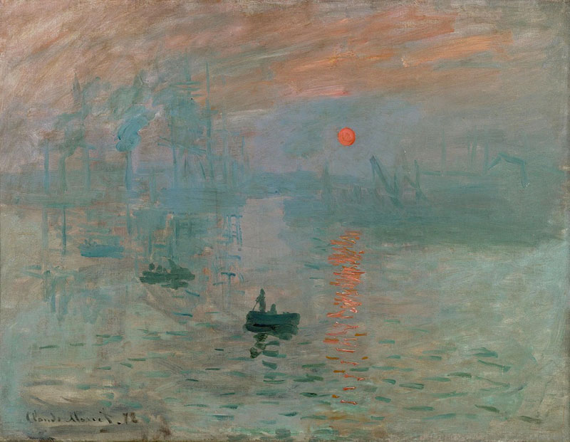 Claude Monet's painting Impression Sunrise, Le Havre which gave birth to the term impressionism