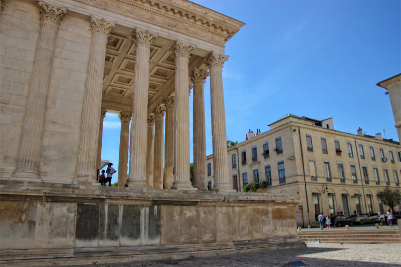 Roman temple in the city of Nimes