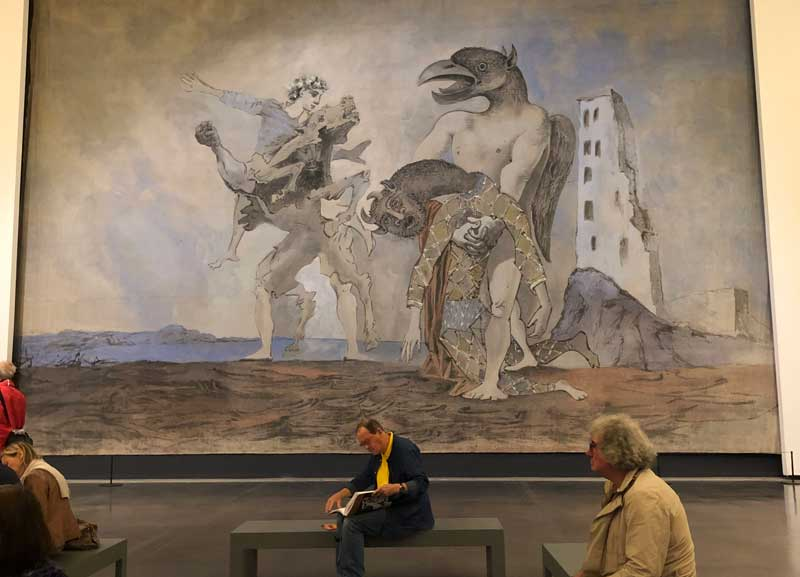 Huge theatrical curtain by Picasso depicting a Minotaur at the Abattoirs Museum Toulouse
