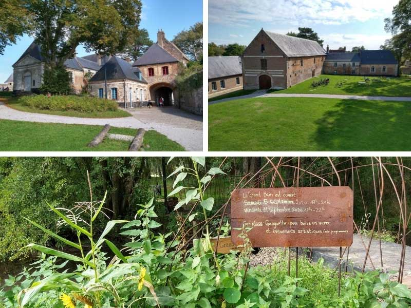 Beautiful countryside in northern France, grassy hills and wild flower meadows, Montreuil-sur-Mer