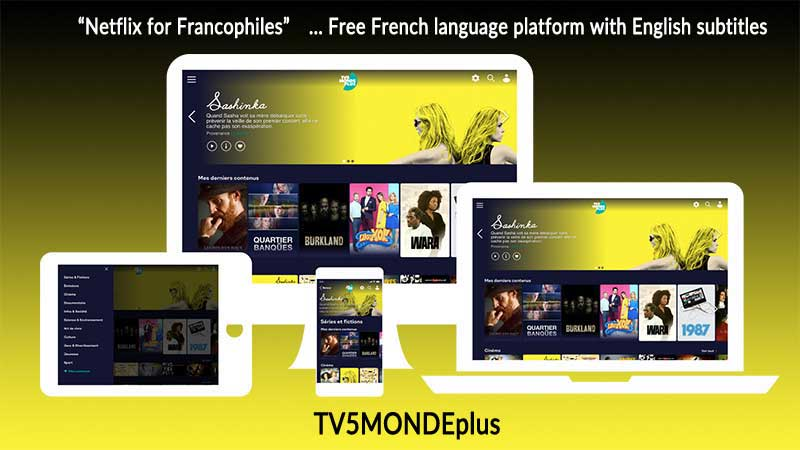 TV5MONDEplus TV show screen shot showing on internet devices