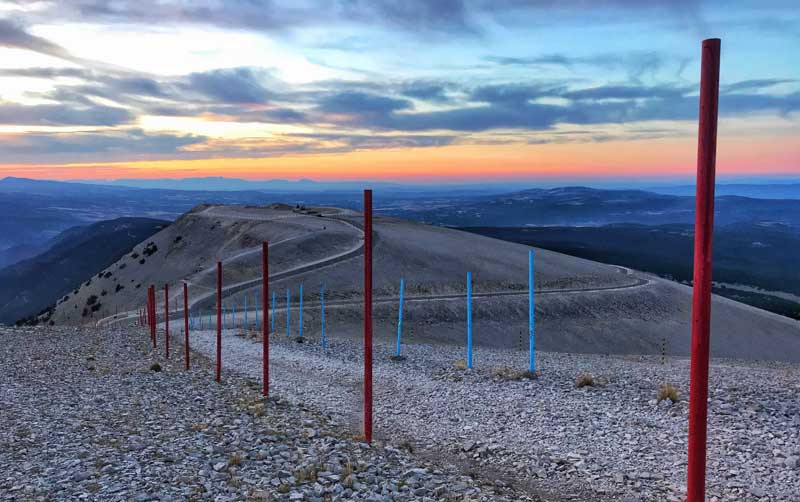 View from the top of Mont Ventoux over Provence and as far away as Marseille