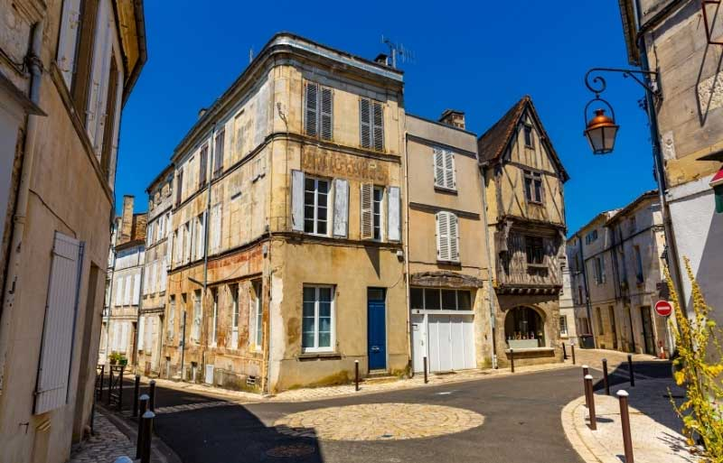 Half-timbered houses in Cognac