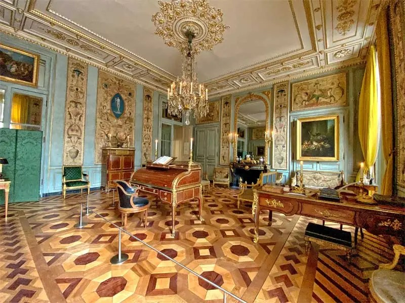Stunning 18th century room of Hotel de la Marine, furnished with historic artefacts