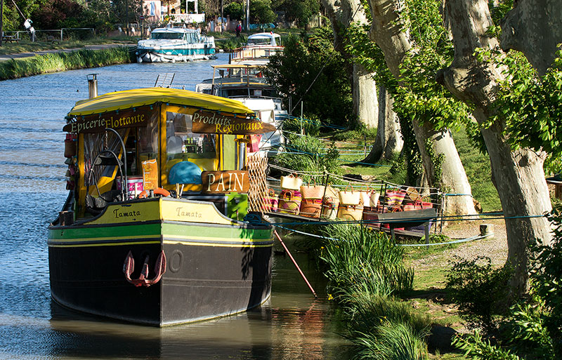 Boat shop on the Canal du Midi