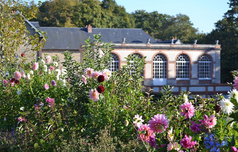 Flower gardens of the Chateau de Breteuil