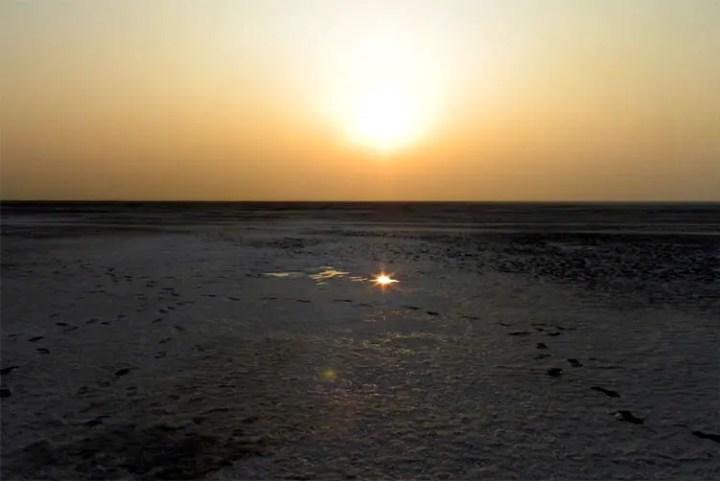 Gujarat_GreatRann_SunsetReflection - The colours of Kutch