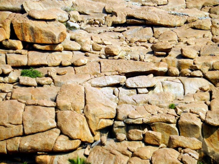 Hampi_GraniteWall - Magical sights of Hampi