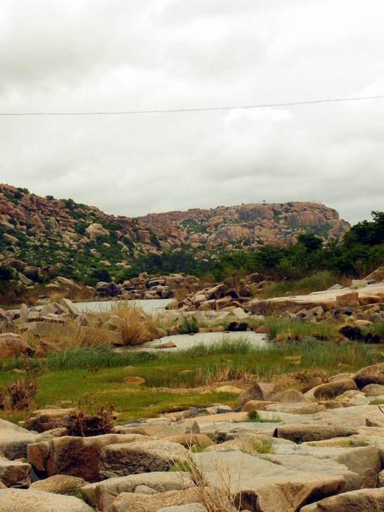 Hampi_OtherSide_FloodedPath - Magical sights of Hampi