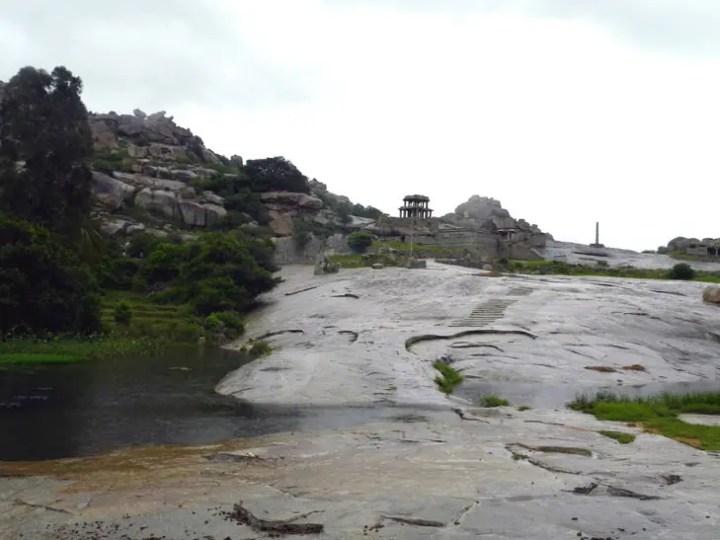 Hampi_RiversidePath_Steps - Magical sights of Hampi