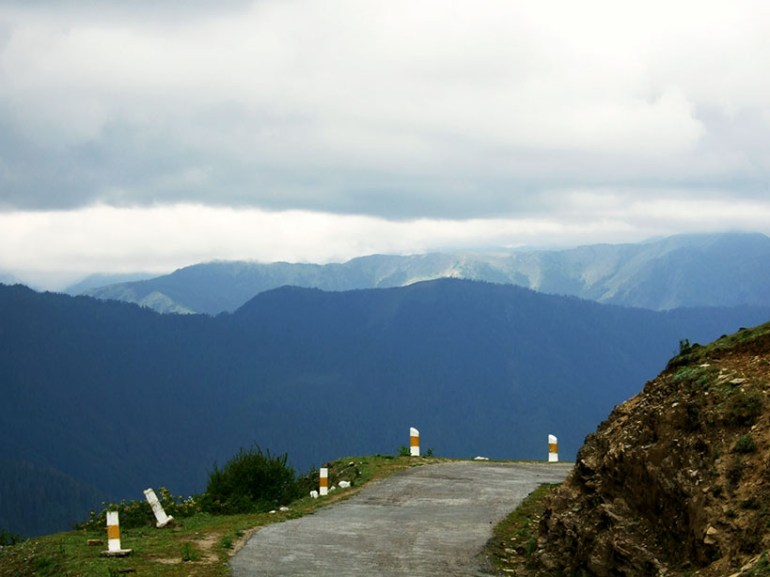 The view from Chelela pass, Bhutan - an escape from the summer heat