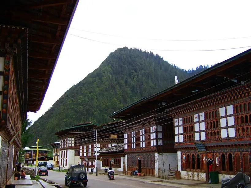 Bhutan - Highway town