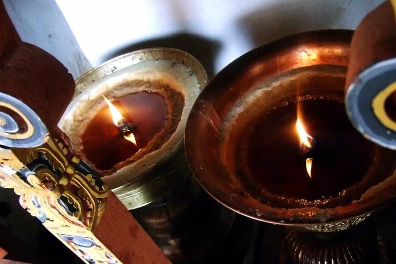Bhutan - Punakha oil lamps