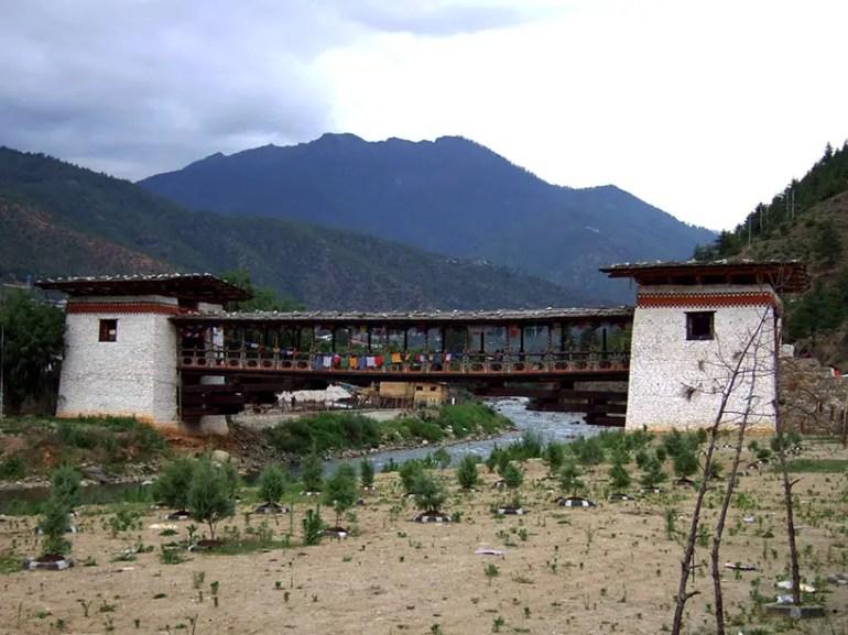 Bhutan - Thimphu bridge exterior