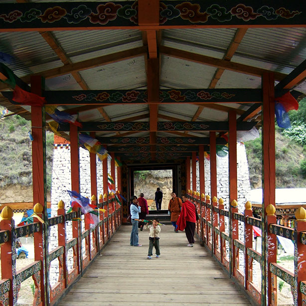 Bhutan - Thimphu bridge interior