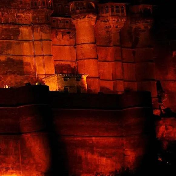Jodhpur - Mehrangarh entrance at night - Eight great reasons why you should visit Rajasthan, 'land of kings'