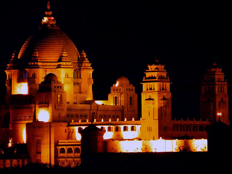 Jodhpur - Umaid Bhawan at night