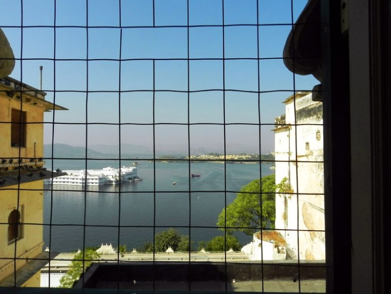 Udaipur - View of lake Pichola from City palace