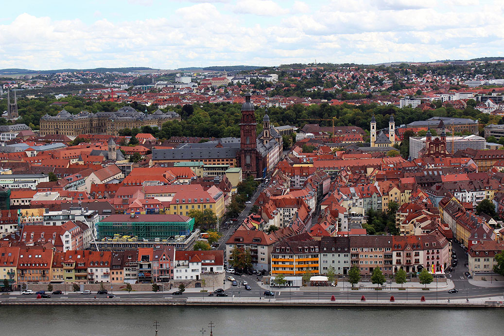 Wuerzburg - View from castle - town 7