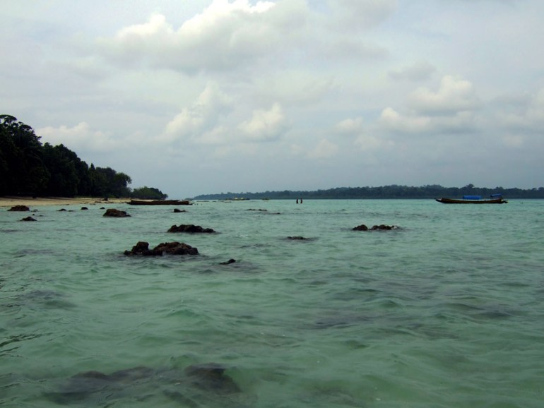Andamans-Havelock-Rocks in the water