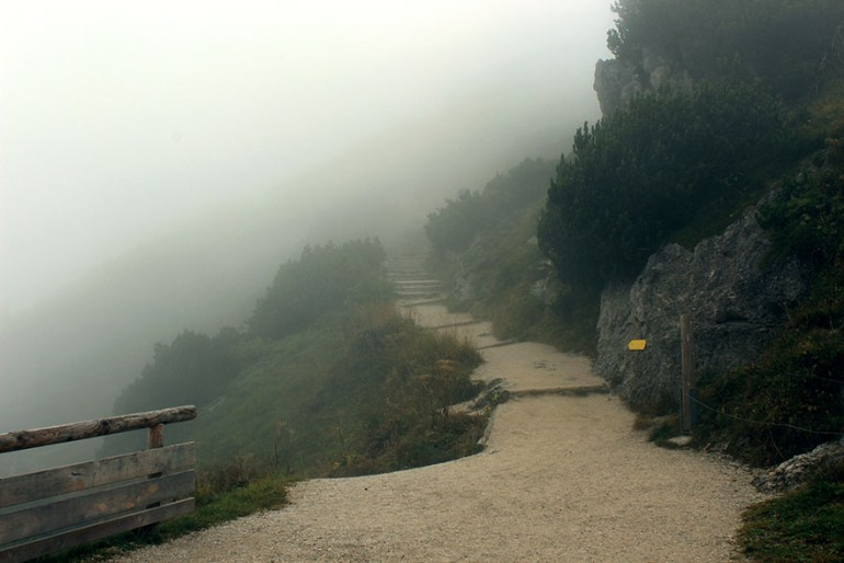 Misty mountain path - Ainring, Salzburg and the Jenner: A road trip through Germany, and other ways to pass the time (Part 5)